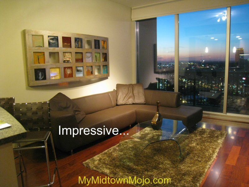 1010 Midtown Living Room Sunset