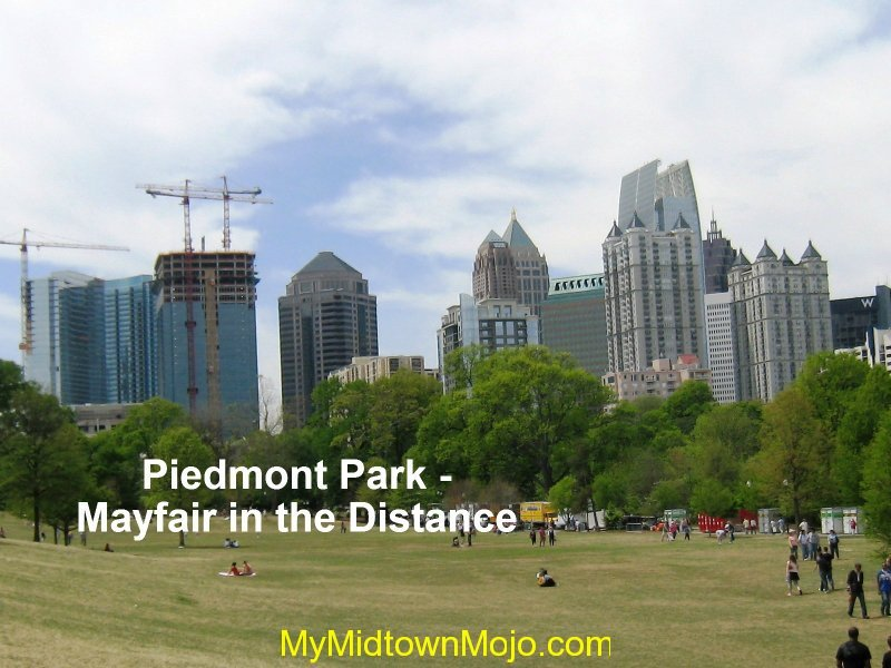 Piedmont Park with Mayfair in Background