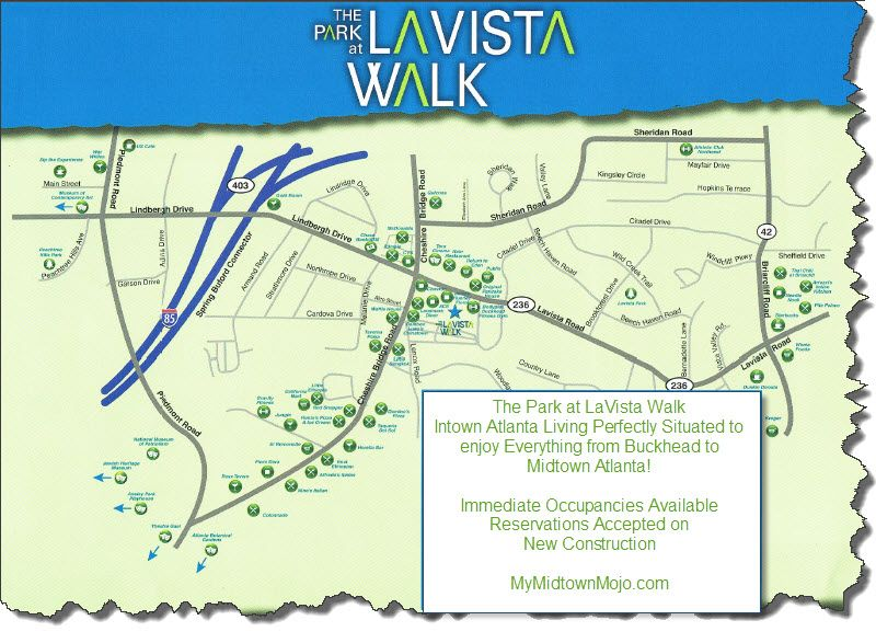 The Park at LaVista Walk Townhomes Area Map