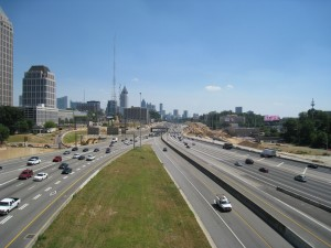 Downtown Connector with Midtown on the Left