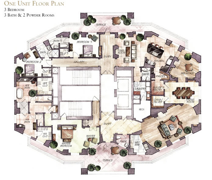 The mansion on peachtree atlanta search the mansion on for 05 buckhead floor plans