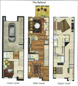 The Park at LaVista Walk Ballard Floor Plan