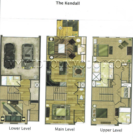 The park at lavista walk townhomes for Kendall homes floor plans
