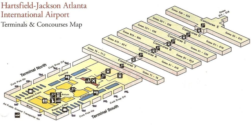 Atlanta International Airport Terminal Map