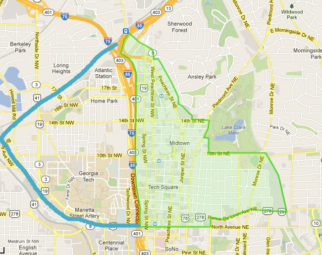 Reasons to Live In Midtown Atlanta Contest Map