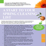 Spring Cleaning is a cure for Spring Fever