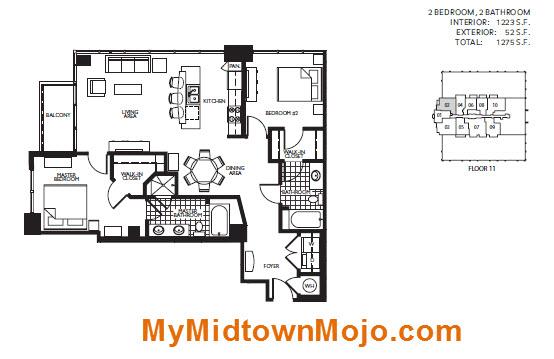 Viewpoint midtown atlanta rare 2 bedroom opportunity for 1010 midtown floor plans