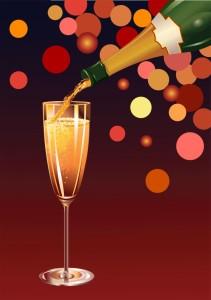champagne bottle glass