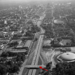 Aerial Midtown Downtown Connector 1956