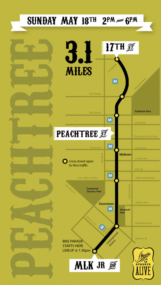 Peachtree Streets Alive May 18 2014
