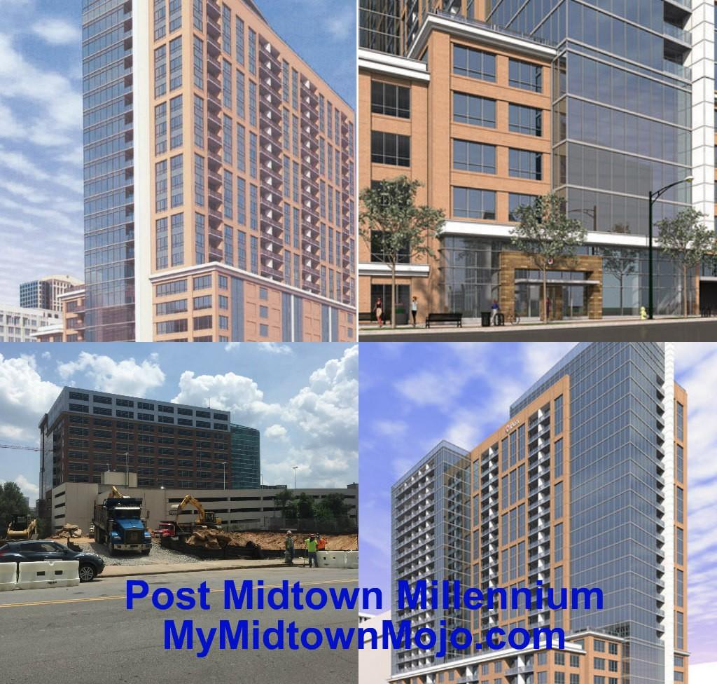Midtown Atlanta Apartment Construction July 17, 2015