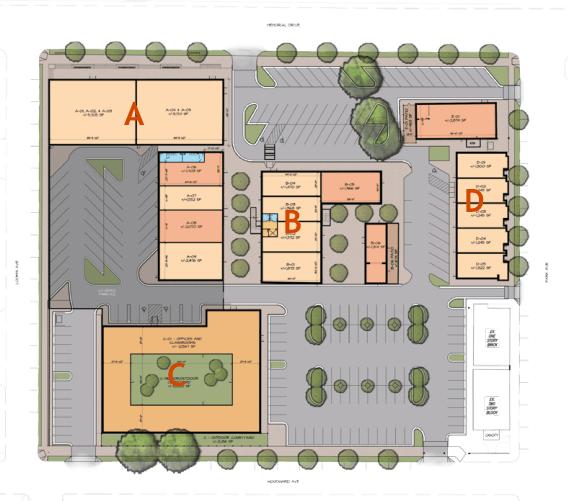 Site plan Larkin on Memorial