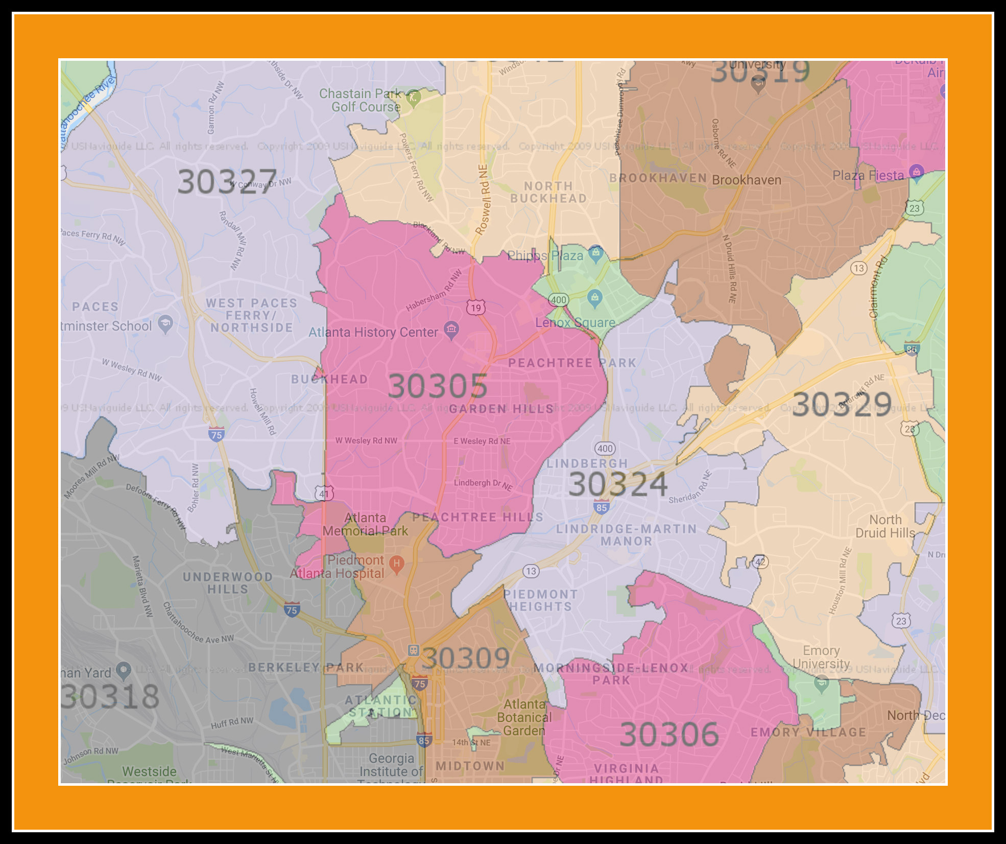 Buckhead Zip Code Map.Buckhead Atlanta