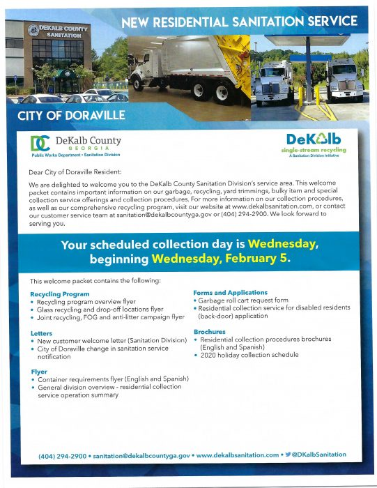 City of Doraville Sanitation Service